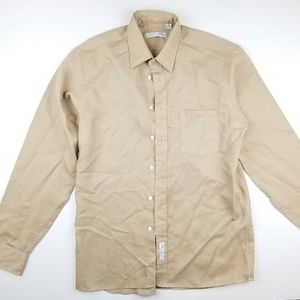 Christian Dior Chemises Solid Tan Button Shirt